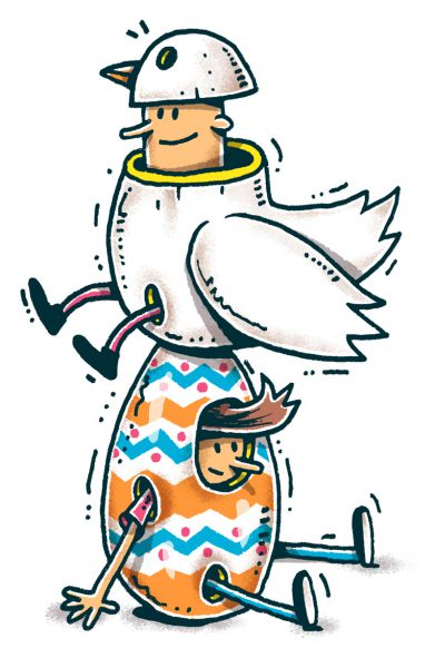 Frohe Ostern 2014. Illustration von Jan-Hendrik Holst