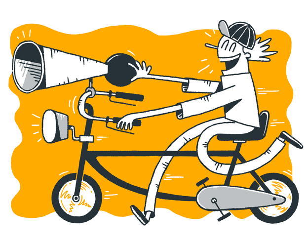 Bicycle. Illustration für das FAZ-Magazin von Jan-Hendrik Holst