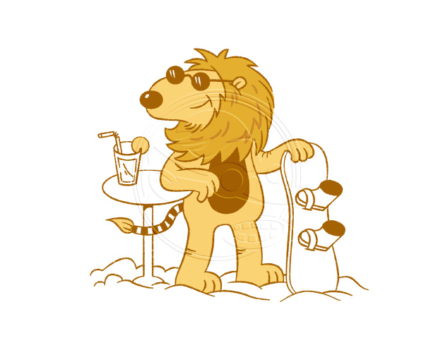 LION: Illustration von Jan-Hendrik Holst für Kids Funwear